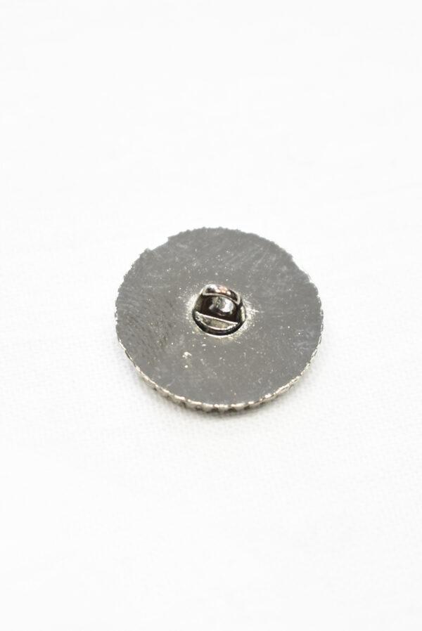 Пуговица металл светло-бежевая с блестками и надписью (р1179) к19 - Фото 9