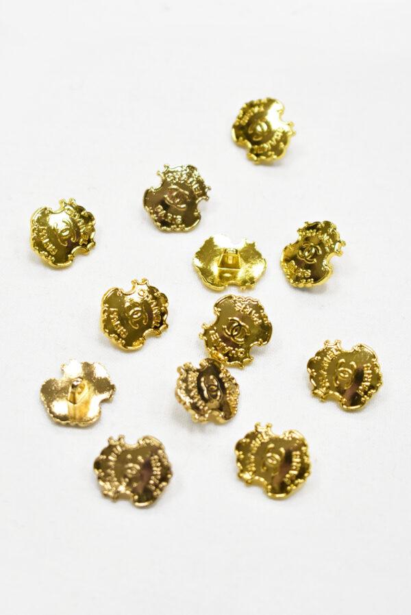 Пуговица металл золото в виде медальона (р1180) - Фото 9