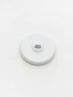 Пуговица металл белая с стеклянной серединкой и надписью (р1182) - Фото 21