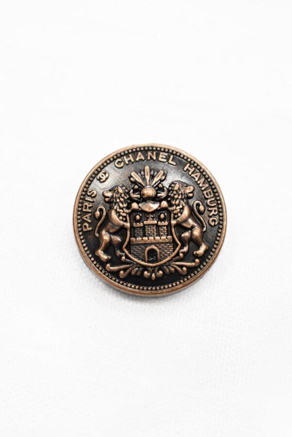 Пуговица металл медь львы (p1184) к19 - Фото 6