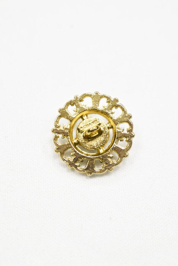 Пуговица металл золото с жемчужиной (р1192) к19 - Фото 9
