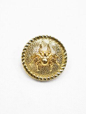 Пуговица металл золото паук (р1193) - Фото 20