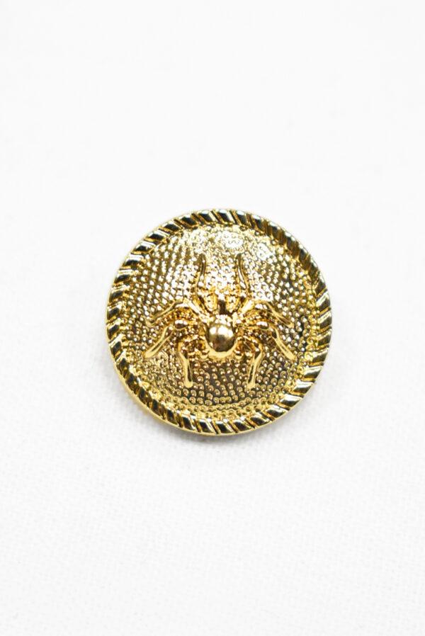 Пуговица металл золото паук 20мм  (р1193) к19 - Фото 6