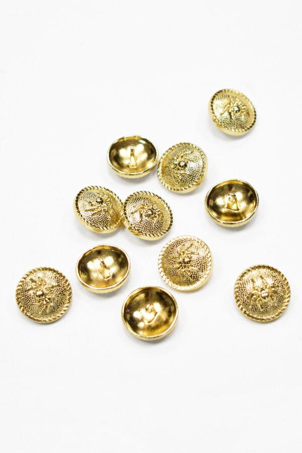 Пуговица металл золото паук 20мм  (р1193) к19 - Фото 7