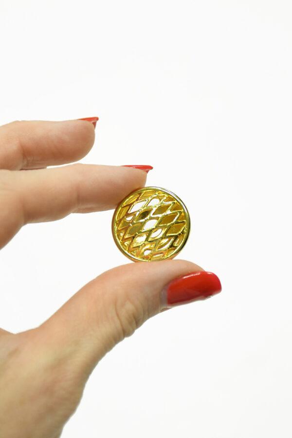 Пуговица металл золото большая 2