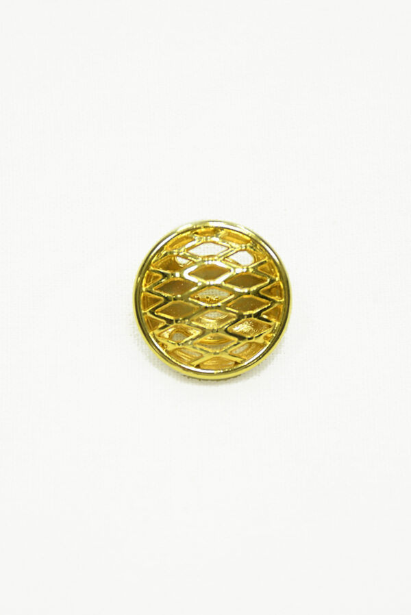 Пуговица металл золото большая