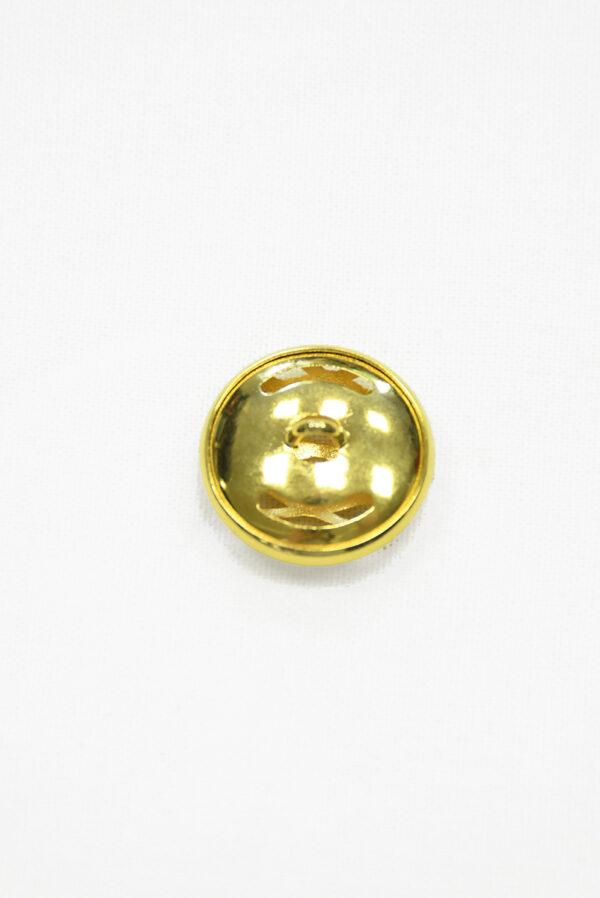 Пуговица металл золото большая 1