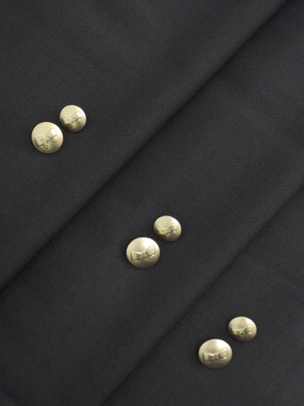 Пуговица металл золото с выбитым бантиком 3