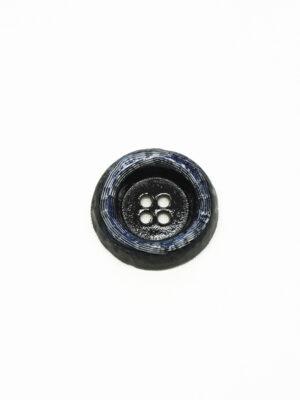 Пуговица металл синяя большая на четыре прокола