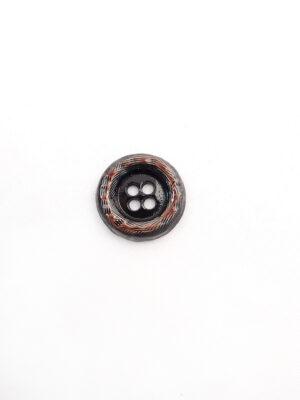 Пуговица металл коричневая на четыре прокола