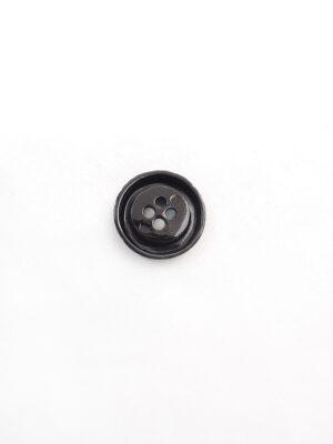 Пуговица металл коричневая на четыре прокола 1