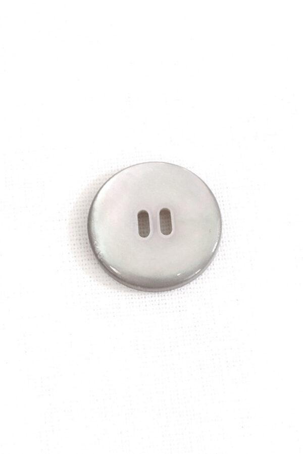 Пуговица пластиковая серый перламутр 1
