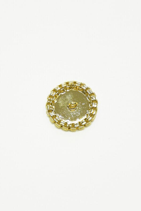 Пуговица металлическая золотая с каемкой 3