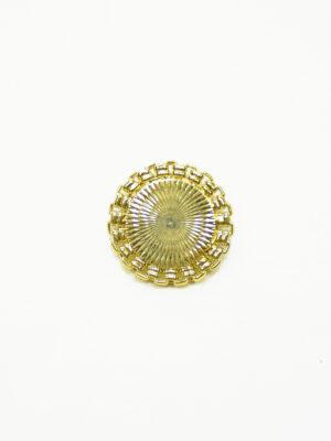 Пуговица металлическая золотая с каемкой