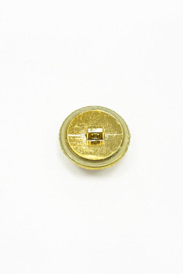 Пуговица пластик золотая с янтарным кристаллом 1