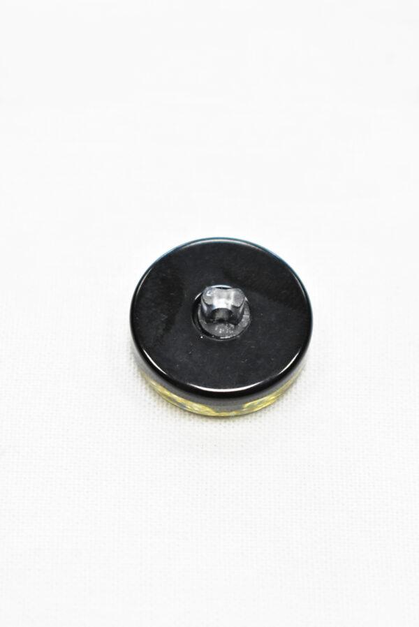 Пуговица черная с золотой змейкой (P0684) - Фото 7