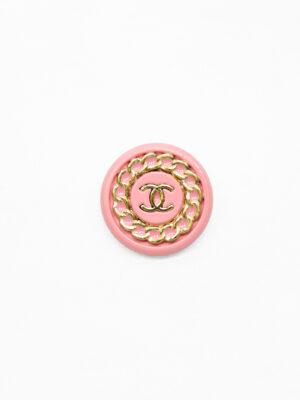 Пуговица металл розовая с золотой цепью (р1483) - Фото 21