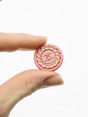 Пуговица металл розовая с золотой цепью (р1483) - Фото 22