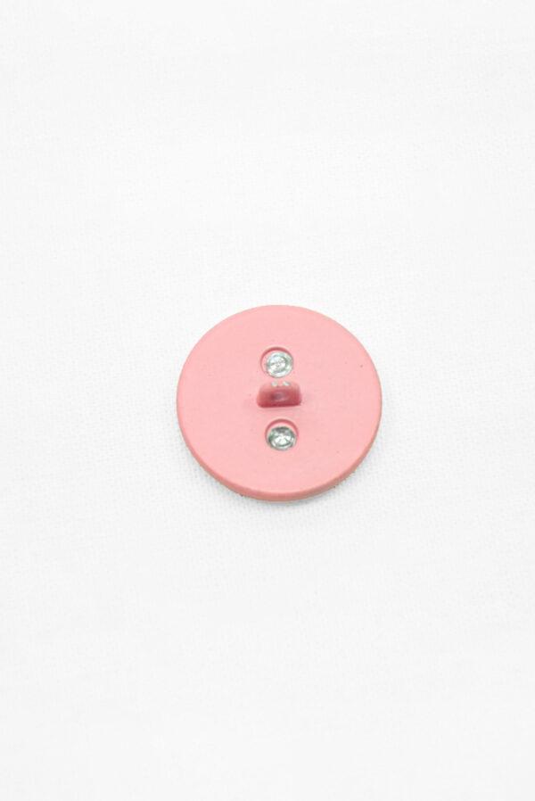 Пуговица металл розовая с золотой цепью (р1483) - Фото 9