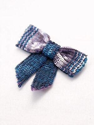 Бантик пайетки цвет сиренево-голубой (t0145) - Фото 16