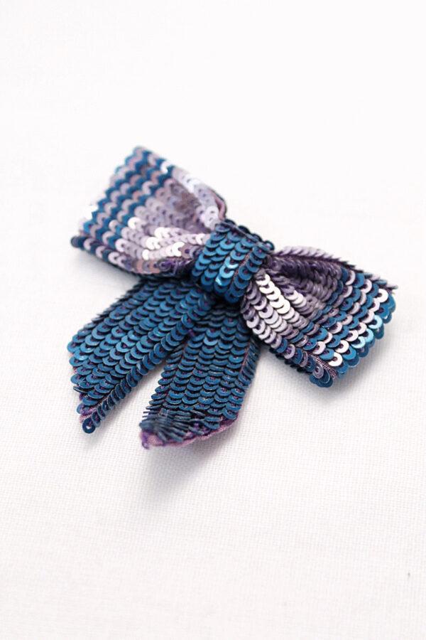 Бантик пайетки цвет сиренево-голубой (t0145) д-2 - Фото 6