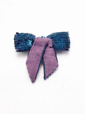 Бантик пайетки цвет сиренево-голубой (t0145) - Фото 17