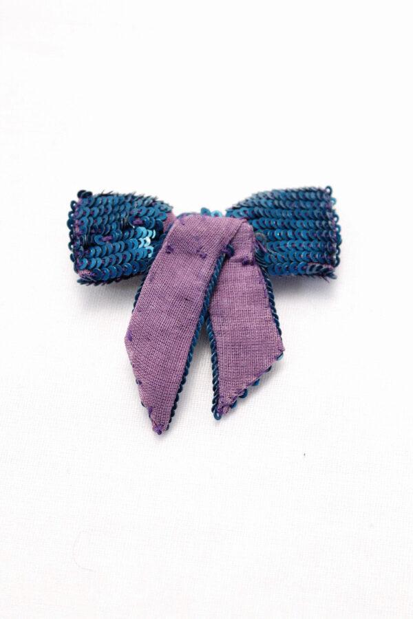 Бантик пайетки цвет сиренево-голубой (t0145) д-2 - Фото 7