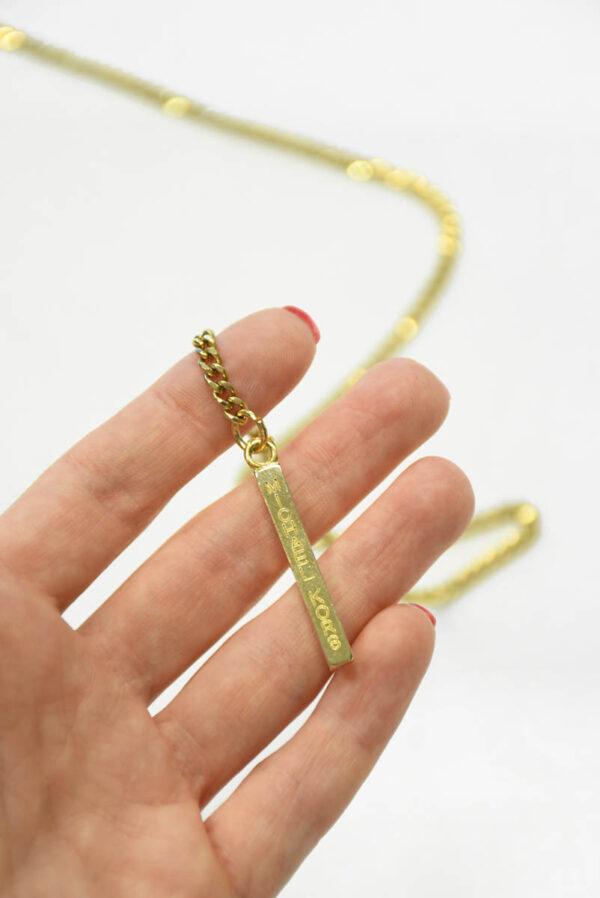 Цепь металл золото с подвеской 1