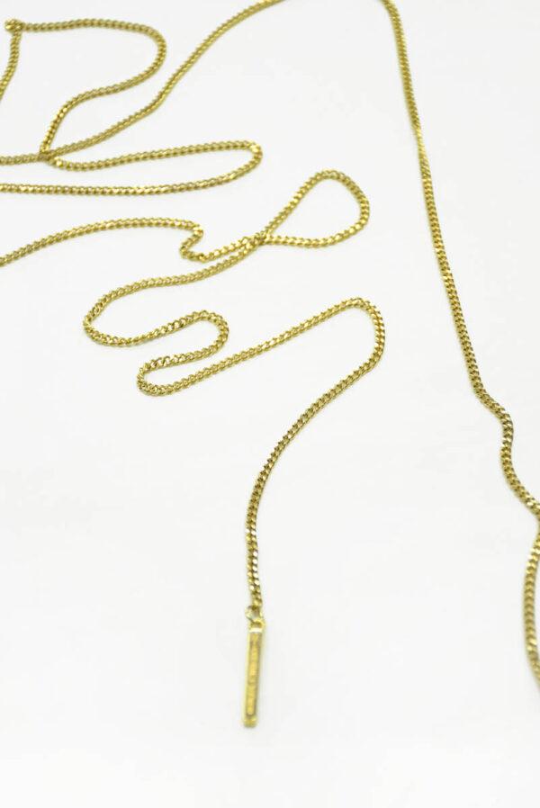 Цепь металл золото с подвеской