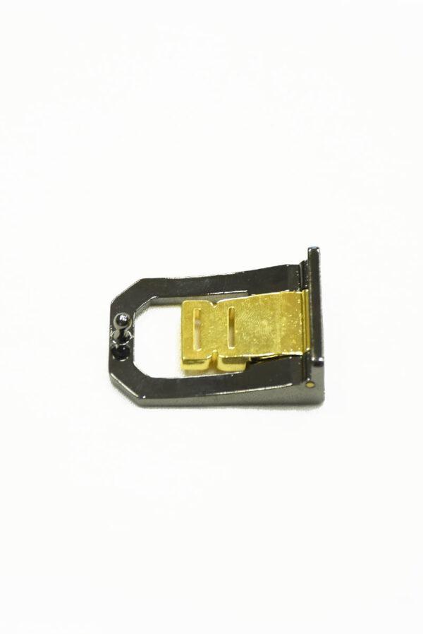 Пряжка металл блэк никель с золотом 2