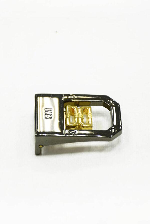 Пряжка металл блэк никель с золотом