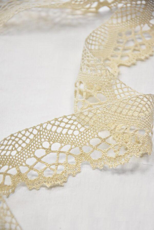 Тесьма льняная плетеная светлый беж (t0504) т-2 - Фото 8