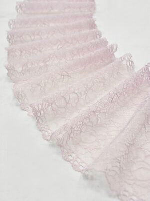 Кружево стрейч нежно-розовое с цветочками (t0539) т-21 - Фото 14