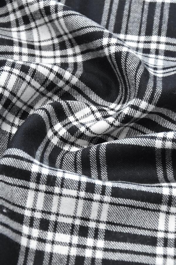 Костюмная шерсть черно-белая шотландская клетка (0449) - Фото 6