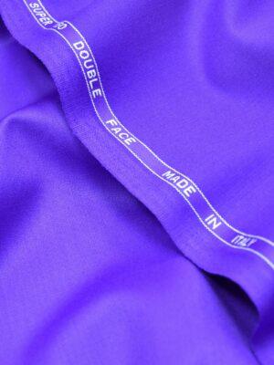 Костюмная шерсть с эластаном фиолетовый аметист двухсторонняя люкс (0424) - Фото 21