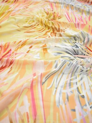 Трикотаж вискоза крупные желтые цветы (0723) - Фото 16