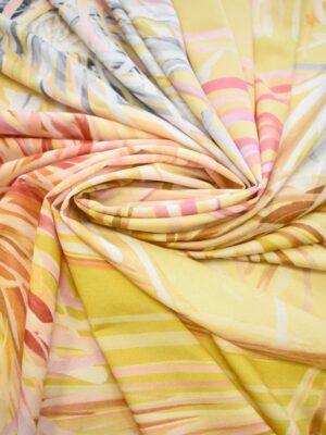 Трикотаж вискоза крупные желтые цветы (0723) - Фото 17