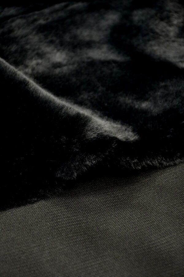 Мех искусственный черный мутон (10577) - Фото 8