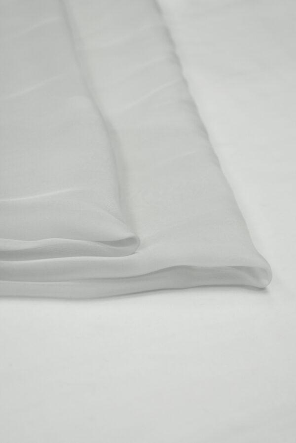 Шифон шелк серая пастель (1212) - Фото 7