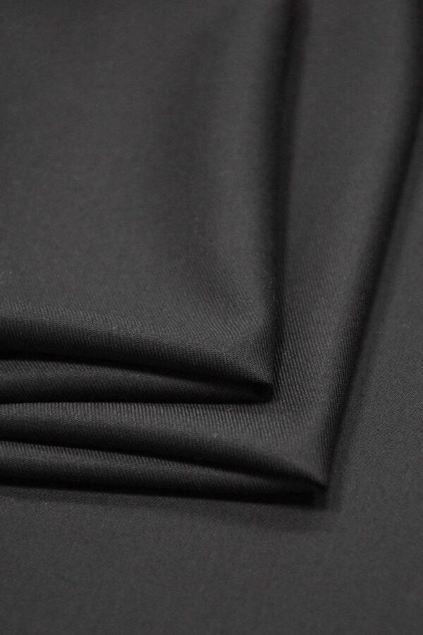 Костюмная шерсть с кашемиром Англия черная подписная кромка (1306) - Фото 10