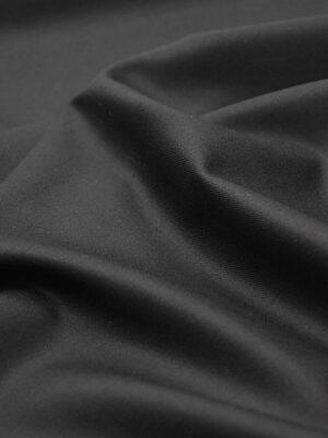 Костюмная шерсть с кашемиром Англия черная подписная кромка (1306) - Фото 11