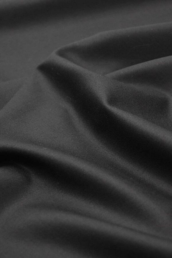 Костюмная шерсть с кашемиром Англия черная подписная кромка (1306) - Фото 7