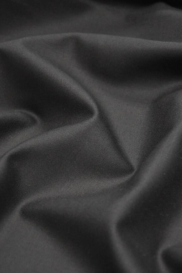 Костюмная шерсть с кашемиром Англия черная подписная кромка (1306) - Фото 8