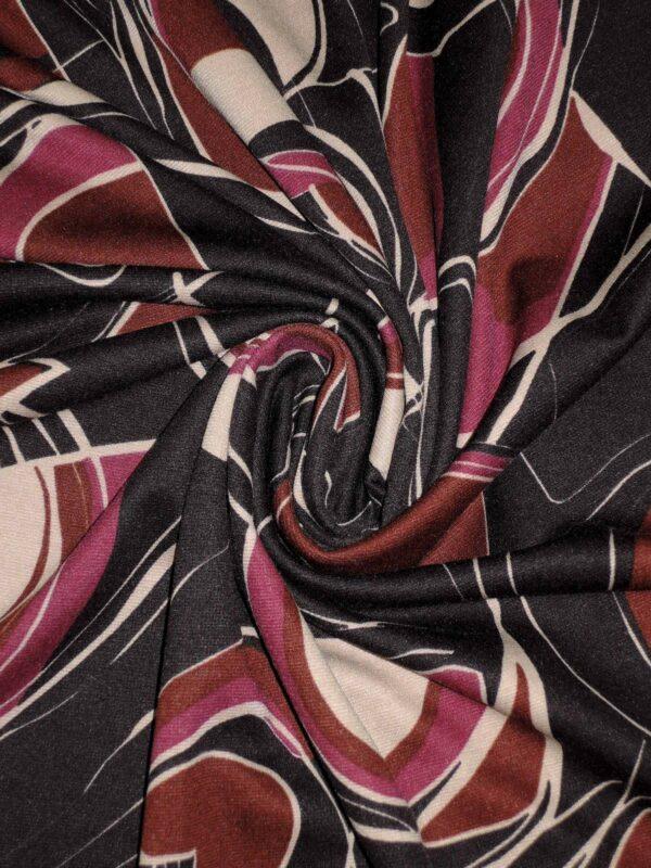 Джерси трикотаж вискоза абстрактная геометрия (1446) - Фото 9