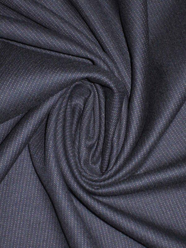 Костюмная шерсть с кашемиром синяя в полоску (1549) - Фото 10