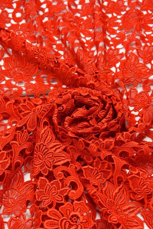 Кружево макраме красное с цветами (2001) - Фото 8