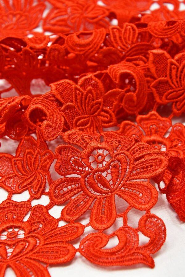 Кружево макраме красное с цветами (2001) - Фото 7