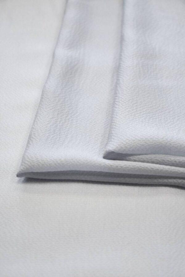 Шифон шелковый фактурный оттенок серая пастель (2023) - Фото 7