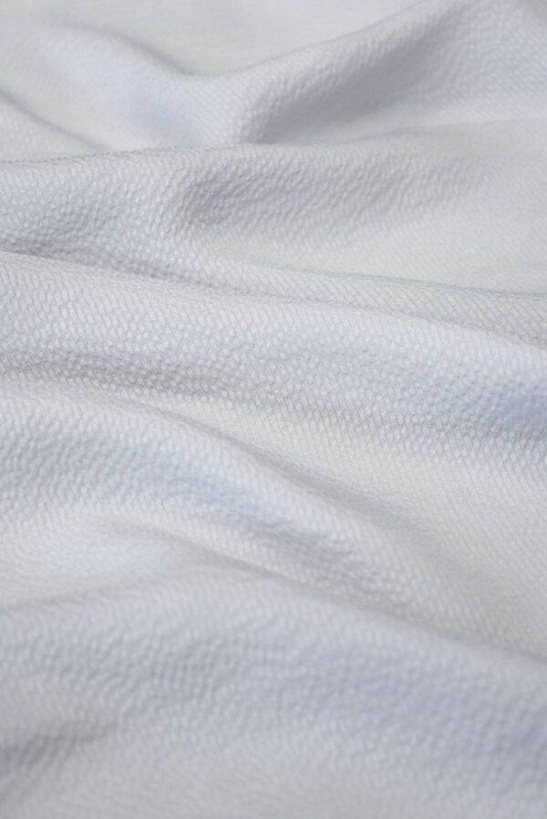 Шифон шелковый фактурный оттенок серая пастель (2023) - Фото 6