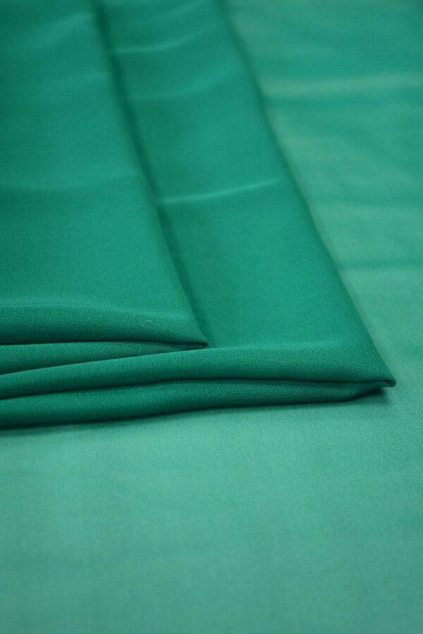 Шифон шелк зеленый нефрит (2028) - Фото 7